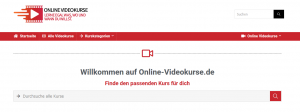 online-videokurse.de startseite screenshot
